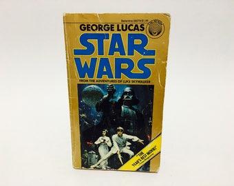 Vintage Sci Fi Book Star Wars Film Novelization 1977 Paperback