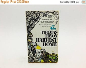 SUMMER BLOWOUT Vintage Horror Book Harvest Home by Thomas Tryon 1974 Edition Paperback