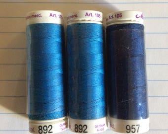 SALE three spools thread ,Mettler Silk finish, item 17