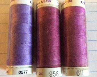 SALE three spools thread ,Mettler Silk finish, item 24