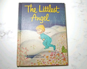 1962 The Littlest Angel Vintage Children's Book Charles Tazewell Color Illustrations by Sergio Leone 6th Edition Clean