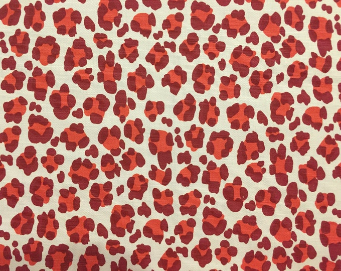 Quadrille China Seas Conga Line Animal Print in Red Designer Pillow Cover