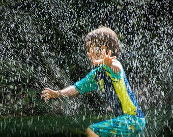 Cooling Off on a Hot Summer Day with the Lawn Water Sprinkler No.22803 A Fine Art Photograph