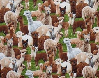 ON SALE Fabulous Alpaca Print Pure Cotton Fabric from Elizabeth's Studios-One Yard
