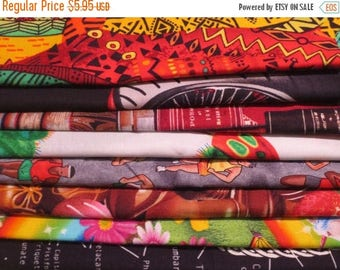 ON SALE 8 REMNANTS--Quilt Cotton Fabric Grab Bag #2