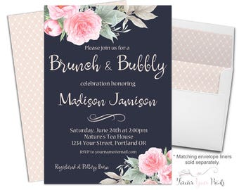 Brunch and Bubbly Invitation - Brunch and Bubbly Invite - Bridal Shower Invitation - Engagement Party - Bridal Luncheon - Bridal Brunch