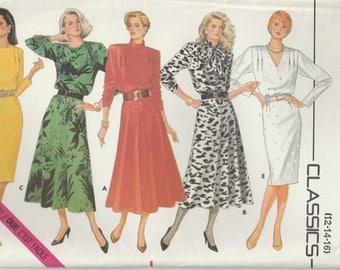 Dress Pattern Loose Fitting Blouson Bodice Misses Size 12 - 14 - 16 uncut Butterik 4364