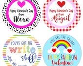 Dalmation Valentine/Gingham Valentine/Rainbow Valentine/Write Stuff Valentine