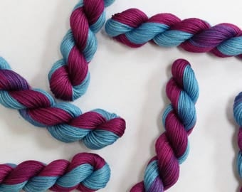 Embroidery and Cross Stitch Thread - Hand Dyed Variegated Fine 5 Stranded Cotton Floss - Blue and Purple 267