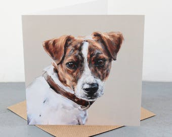 TerrierFine art card, dog gift card, jack russell terrier dog lover