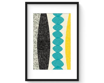 CHRYSALIS no.48 - Giclee Print - Mid Century Modern Modernist Abstract Eames