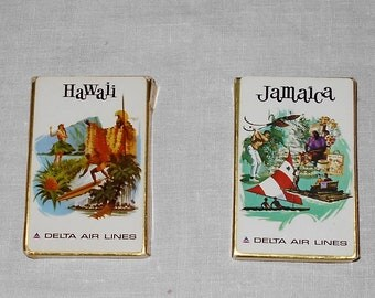 Vintage Delta Playing Cards - Hawaii Playing Cards - Jamaica Playing Cards - Playings Cards - Vintage Delta Cards