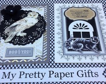 Anna Griffin Halloween Card Kit, 3D Paper Embellishments, Layered Paper Embellishements for Cards, Tags,Scrapbook, Paper Crafts