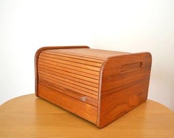 Mid Century Teak Tambor Door Kalmar Designs Desktop Organizer
