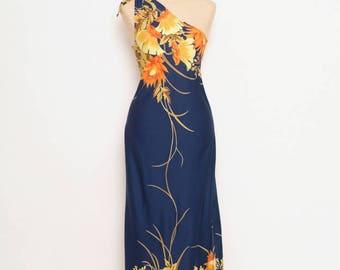 Vintage 80s dress - Vintage Dress - Vintage - Hawaii dress - dress - Party dress - Floral dress - Maxi dress - 70s Dress - 80s dress Dresser