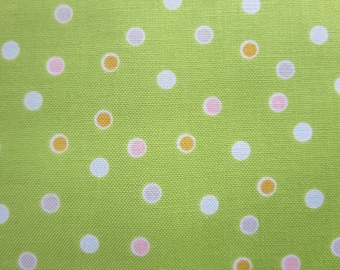 5.99 A Yard - Weekly Special - Riley Blake Sweet Orchard Fabric Dot Green C5482