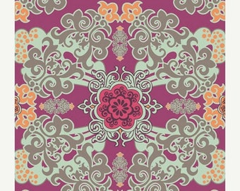 SALE 30% OFF - Euphoria in Boysenberry (HG-8402) - Hyperreal Garden - Patricia Bravo for Art Gallery Fabrics - By the Yard