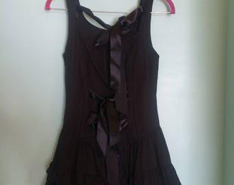 Beautiful Vintage Black Steampunk Corset Mini Dress