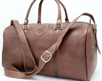 SALE !Weekender- leather backpack, leather duffle bag! weekender bag from leather