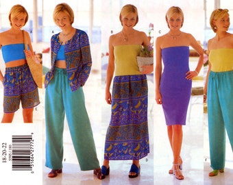Butterick 5595 Sewing Pattern for Misses' Jacket, Dress, Top, Skirt and Pants - Uncut - Size 18, 20, 22