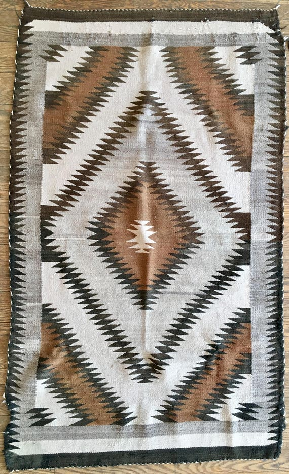 1940s Navajo Rug, Chieftain's Blanket