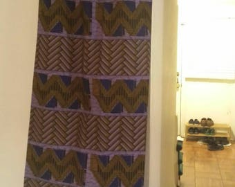 African Print wrap skirt- purple (size: US 6-10)