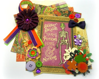 Graphic 45 Rare Oddities Halloween Inspiration Kit Embellishment Kit for Scrapbook Layouts Cards Mini Albums Tags and Paper-crafts