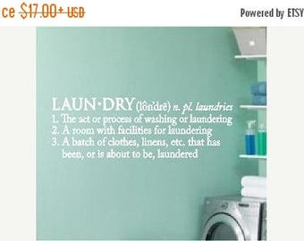 20% off Laundry Definition -Vinyl Lettering wall words graphics Home decor itswritteninvinyl