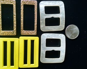 set of six vintage belt buckles