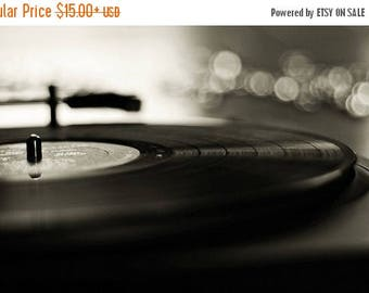Record Player: play that song again Fine Art Photography Black and White Still life Art Vinyl Record Art Print Record Photo