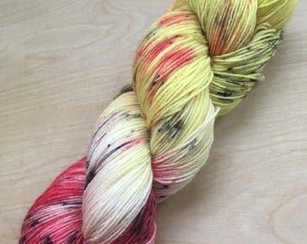 Gryffindor house superwash wool sock yarn