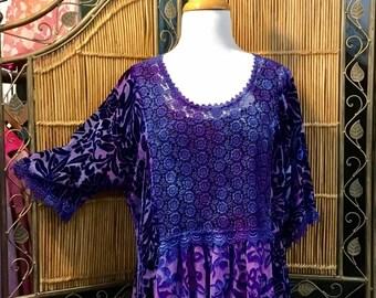 Purple Lace Babydoll Tunic