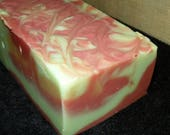 Grapefruit Ginger Whole 3.5 Pounds Coconut Milk Soap Loaf with Argan Oil and Shea Butter