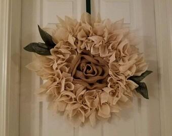 Flower Burlap Wreaths
