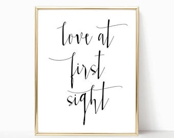 SALE -50% Love At First Sight Digital Print Instant Art INSTANT DOWNLOAD Printable Wall Decor