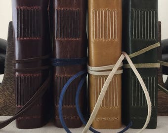 Small Leather Field Journal - Lined Pages - Ready to Ship