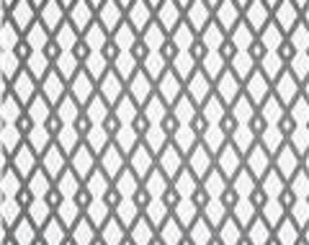 FABRIC - 3 Yards - Robert Allen @ Home Graphic Fret in Greystone - Grey and White