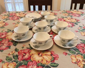 Vintage Noritake Tea Cups and Saucers