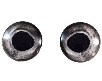 SALE Natural Fish Eyes - 25mm - Fish Eyes - Silver