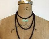 1920s Sautoir Lariat Deco Purple Beaded Rope Necklace 20s Flapper Necklace