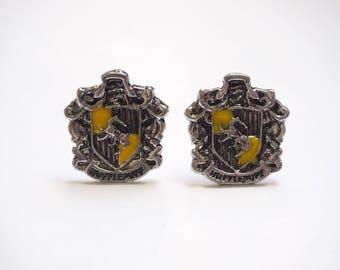 Harry Potter Hufflepuff Crest Cufflinks