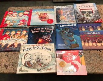 Countdown to Christmas children's book collection Advent reading Snow Snowman