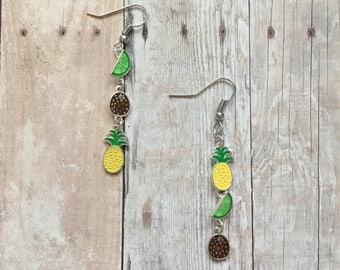 Funky fruit earrings