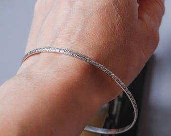 Vintage sterling silver 875 bracelet, woman watch bracelet