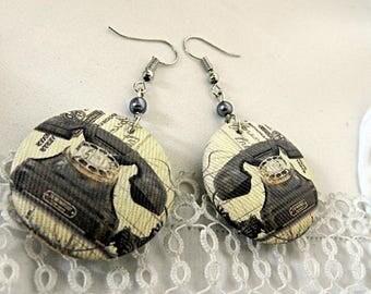 Vintage telephone earrings