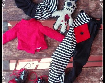 Vintage CLOWN OUTFIT romper set for Blythe by Shels Tiny closet