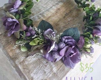 Photography floral crown, lavender maternity crown, purple flower crown, fairy crown