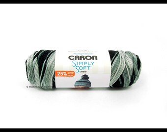 Caron Simply Soft Ombre Yarn, Stormy Weather, 5 oz