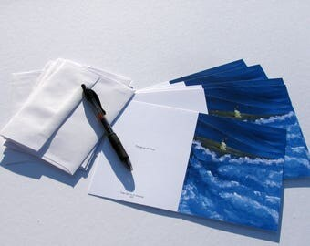"""5-pack of Note Cards """"Thinking of You"""""""