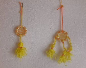 2 Melted Bead Dream Catchers